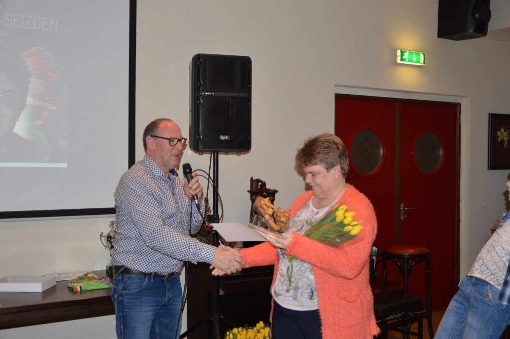 felicitaties voor Marjolijn Stam Nierop